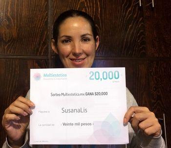 Ganadora del sorteo: SusanaLiz es nuestra afortunada del mes de mayo.