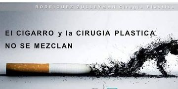 La cirugia plastica y el cigarillo no se mezclan