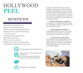 Hollywood Peel, Muchos Beneficios en un sólo tratamiento