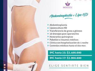 Pack abdominoplastía + Lipoescultura