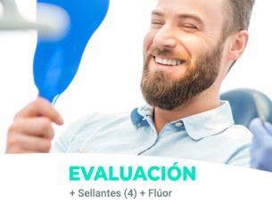 Promoción prevención sellantes + flúor incluye evaluación. $29.990