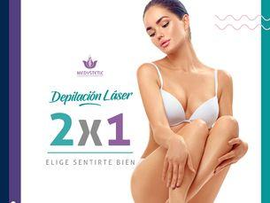 Depilación Láser Diodo 2X1