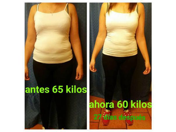 Antes y después de dieta