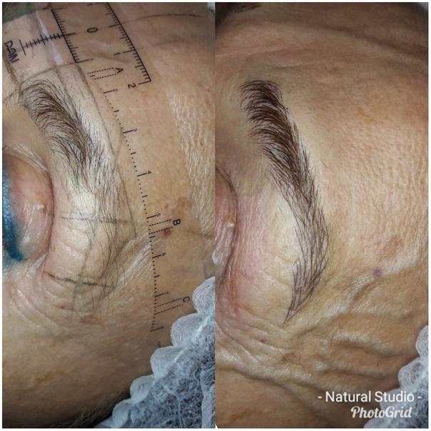 antes y después de microblading