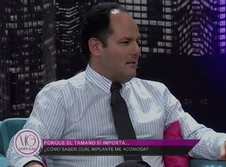"""El Dr. Sergio Valenzuela U. en el programa de TV """"Mujer Glam"""""""